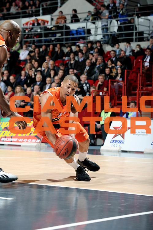 DESCRIZIONE : Championnat de France Basket Ligue Pro A  au Mans<br /> GIOCATORE : Marc Antoine PELLIN<br /> SQUADRA : Pau Orthez<br /> EVENTO : Ligue Pro A  2010-2011<br /> GARA : Le Mans Pau Orthez<br /> DATA : 28/01/2011<br /> CATEGORIA : Basketbal France Ligue Pro A<br /> SPORT : Basketball<br /> AUTORE : JF Molliere/Herve Petitbon par Agenzia Ciamillo-Castoria <br /> Galleria : France Basket 2010-2011 Action<br /> Fotonotizia : Championnat de France Basket Ligue Pro A au Mans<br /> Predefinita :