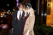 CONNOR POPE; SHELLY ASQUITH, Juicy Couture and Fifi Lapin - masquerade Ball<br /> Juicy Couture, 27 Bruton Street, London,  7 March 2012