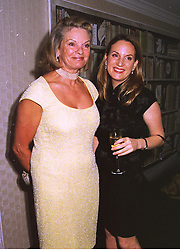 MISS EMILY OPPENHEIMER and her mother MRS FREDERICK BARKER, at a film premier on 26th August 1998.MJL 98