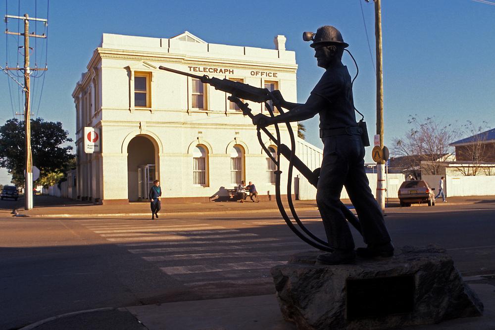 Gold miner statue, Kalgoorlie, Western Australia.