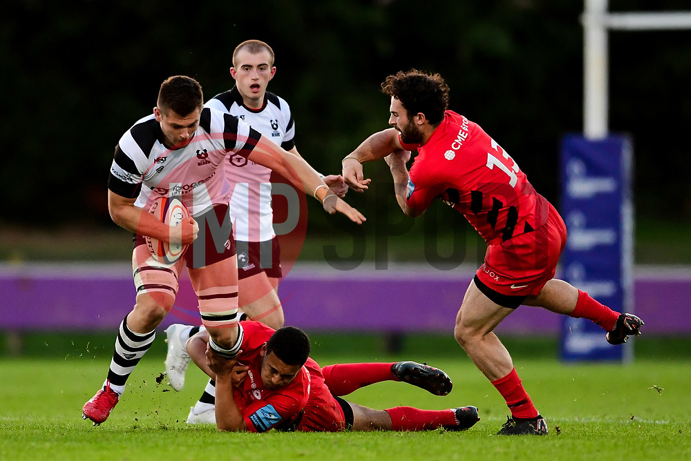 Sam Graham of Bristol Bears United is tackled by Manu Vunipola of Saracens  - Mandatory by-line: Ryan Hiscott/JMP - 24/09/2018 - RUGBY - Clifton RFC - Bristol, England - Bristol Bears United v Saracens Storm - Premiership Rugby Shield