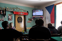 CZECH REPUBLIC VYSOCINA NEDVEZI 16MAY15 - Ice Hockey world championship match Czech Republic against Canada, seen in the village pub in Nedvezi, Vysocina, Czech Republic.<br /> <br /> jre/Photo by Jiri Rezac<br /> <br /> © Jiri Rezac 2015