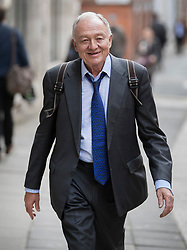 © Licensed to London News Pictures. 30/03/2017. London, UK. Former Mayor of London Ken Livingstone arrives at Church House for a Labour Party disciplinary hearing. Mr Livingstone has been accused of anti-Semitism after comments he made in April 2016 claiming that Hitler supported Zionism in the 1930's. Photo credit: Peter Macdiarmid/LNP