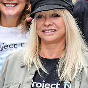 Jo Wood for  World Ocean Day - Project 0 Ambassadors unveil One Ocean One Planet on Carnaby Street, on 4 June 2019, London, UK.