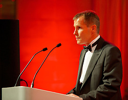 CARDIFF, WALES - Monday, October 8, 2012: Wales' women's manager Jarmo Matikainen during the FAW Player of the Year Awards Dinner at the National Museum Cardiff. (Pic by David Rawcliffe/Propaganda)