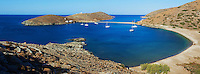 Grece, Cyclades, ile de Kythos, plage de Kolona // Greece, Cyclades islands, Kythnos, Kolona beach