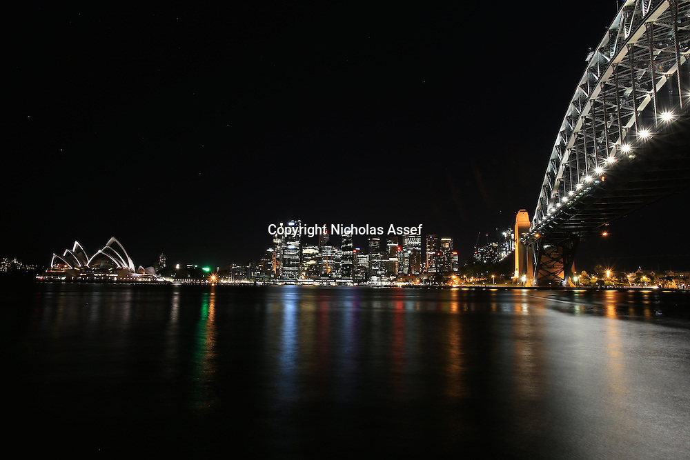 Vibrant Colours of a Sydney Summer's Night