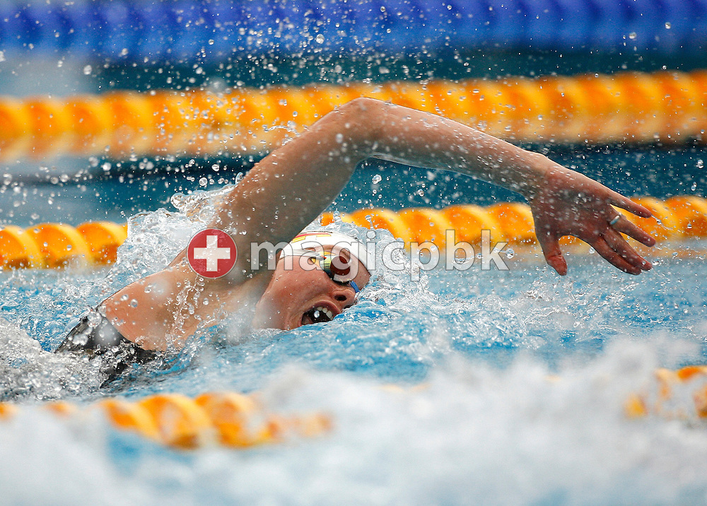 Britta Steffen of Germany competes in the semifinal 2 of the Women's 100m freestyle at the European Swimming Championships in Budapest, Hungary, Thursday, August 1, 2006. (Photo by Patrick B. Kraemer / MAGICPBK)