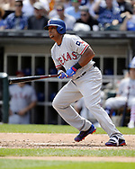 CHICAGO - JULY 01:  Adrian Beltre #29 of the Texas Rangers bats against the Chicago White Sox on July 1, 2017 at Guaranteed Rate Field in Chicago, Illinois.  The Rangers defeated the White Sox 10-4.  (Photo by Ron Vesely) Subject:   Adrian Beltre
