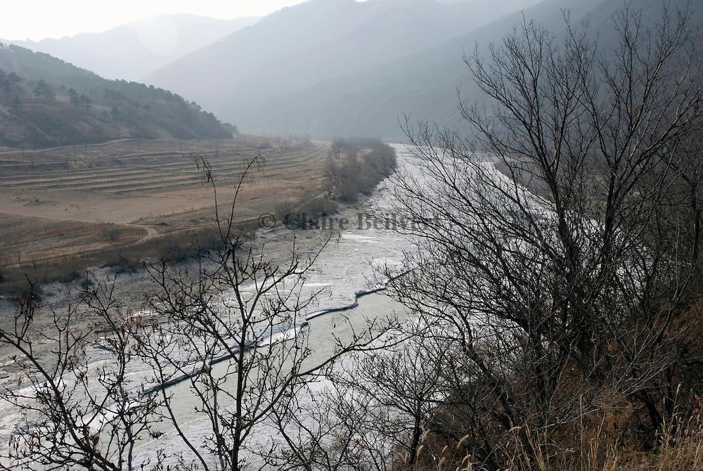 The Tumen river marks the border between China and North Korea. North Koreans cross this river to escape their country.