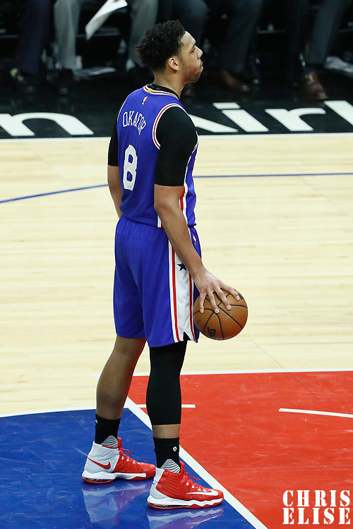 11 March 2017: Philadelphia 76ers center Jahlil Okafor (8) is seen at the free throw line during the LA Clippers 112-100 victory over the Philadelphia Sixers, at the Staples Center, Los Angeles, California, USA.