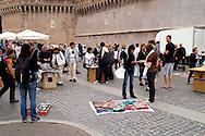 Roma 12 Maggio 2008<br /> Venditori ambulanti  vendono oggetti sul Ponte Sant'Angelo, nella zona di Castel Sant' Angelo<br /> Rome May 12, 2008<br /> Street vendors sell items on the Ponte Sant'Angelo, in the  Castel Sant'Angelo zone.