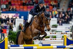 VON ECKERMANN Henrik (SWE), Beezie<br /> Göteborg - Gothenburg Horse Show 2019 <br /> Int. jumping competition presented by Volvo<br /> Against the clock (1.40 m)<br /> Longines FEI Jumping World Cup™ Final and FEI Dressage World Cup™ Final<br /> 03. April 2019<br /> © www.sportfotos-lafrentz.de/Stefan Lafrentz