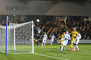 Swansea City U23s Goalkeeper Mark Birghitti tips the ball over the post during the EFL Trophy match between Newport County and U23 Swansea City at Rodney Parade, Newport, Wales on 4 October 2016. Photo by Andrew Lewis.