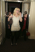 COURTNEY LOVE, Literary Review's Bad Sex In Fiction Prize.  In & Out Club (The Naval & Military Club), 4 St James's Square, London, SW1, 29 November 2006. <br />Ceremony honouring author who writes about sex in a 'redundant, perfunctory, unconvincing and embarrassing way'. ONE TIME USE ONLY - DO NOT ARCHIVE  © Copyright Photograph by Dafydd Jones 248 CLAPHAM PARK RD. LONDON SW90PZ.  Tel 020 7733 0108 www.dafjones.com