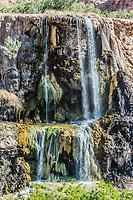 ma'in hot springs waterfall in Jordan