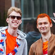 NLD/Groningen/20180427 - Koningsdag Groningen 2018, oranje fans