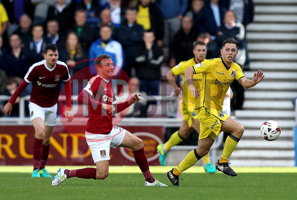 Charlie Colkett of Bristol Rovers goes past Matthew Taylor of Northampton Town - Mandatory by-line: Robbie Stephenson/JMP - 01/10/2016 - FOOTBALL - Sixfields Stadium - Northampton, England - Northampton Town v Bristol Rovers - Sky Bet League One