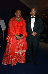PRINCE SEEISO BERENG SEEISO and  PRINCESS MADELANG SEEISO of Lesotho at the British Red Cross London Ball held at The Room by The River, 99 Upper Ground, London SE1 on 16th November 2006.<br />