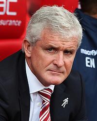 Stoke City manager Mark Hughes  - Mandatory by-line: Matt McNulty/JMP - 20/08/2016 - FOOTBALL - Bet365 Stadium - Stoke-on-Trent, England - Stoke City v Manchester City - Premier League