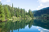 Tokatee Lake on the North Umpqua River. Cascade Mountains, Oregon.