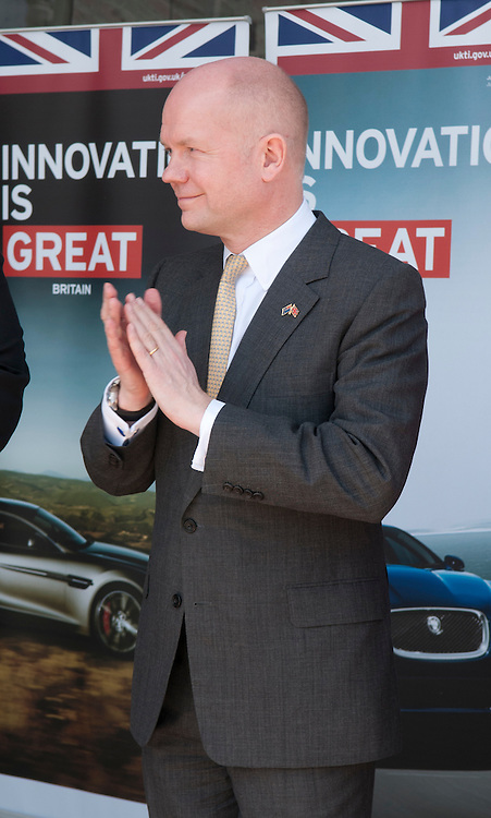 British Foreign Secretary The Right Honourable William Hague at the Christchurch Art Gallery for the launch a British Car Rally, while on a visit to Christchurch, New Zealand, Wednesday, January 16, 2013. Credit: SNPA / David Alexander.