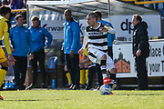 Forest Green Rovers Liam Noble(15) on the ball during the Vanarama National League match between Southport and Forest Green Rovers at the Merseyrail Community Stadium, Southport, United Kingdom on 17 April 2017. Photo by Shane Healey.