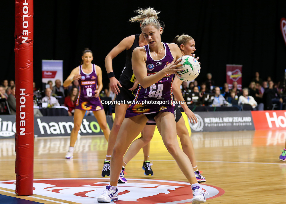 Queensland Firebird's Amorette Wild in action during the ANZ Championship netball match - Waikato BOP Magic v Queensland Firebirds at Claudelands Arena, Hamilton, New Zealand on Monday 2 June 2014.  Photo:  Bruce Lim / www.photosport.co.nz