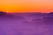 Sunset over the Grand Canyon, Grand Canyon National Park, Arizona USA