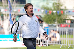 LIVERPOOL, ENGLAND - Monday, June 10, 2013: Northern Vision's Anders Borg during a corporate tennis tournament at Chavasse Park in Liverpool ONE ahead of the Liverpool Hope University International Tennis Tournament. (Pic by David Rawcliffe/Propaganda)