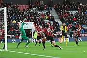 Goal - Roberto Pereyra (37) of Watford celebrates scores a goal to give a 0-3 lead during the Premier League match between Bournemouth and Watford at the Vitality Stadium, Bournemouth, England on 12 January 2020.