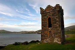 IRELAND KERRY DINGLE 6NOV05 - Old ruins of a tower guarding the natural harbour of Dingle Town on the same named Peninsula, Irelands most westerly county...jre/Photo by Jiri Rezac..© Jiri Rezac 2005..Contact: +44 (0) 7050 110 417.Mobile: +44 (0) 7801 337 683.Office: +44 (0) 20 8968 9635..Email: jiri@jirirezac.com.Web: www.jirirezac.com..© All images Jiri Rezac 2005 - All rights reserved.