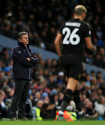 Leicester City manager Claude Puel and Riyad Mahrez - Mandatory by-line: Matt McNulty/JMP - 10/02/2018 - FOOTBALL - Etihad Stadium - Manchester, England - Manchester City v Leicester City - Premier League