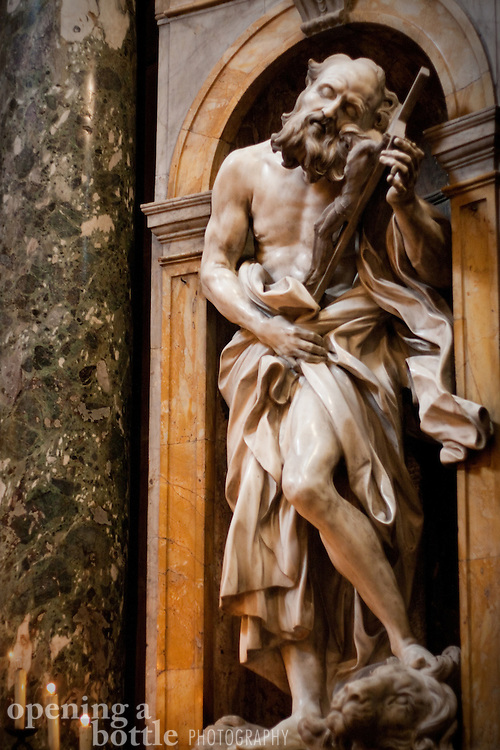 St. Jerome sculpture by Bernini, Duomo of Siena, Tuscany, Italy.