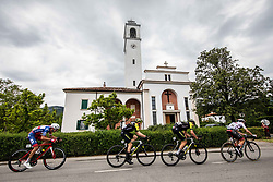 Radoslav Rogina (CRO) of Adria Mobil, Cameron Meyer (AUS) of Mitchelton - Scott, Edoardo Affini (ITA) of Mitchelton - Scott, Tadej Pogacar (SLO) of UAE Team Emirates during 4th Stage of 26th Tour of Slovenia 2019 cycling race between Nova Gorica and Ajdovscina (153,9 km), on June 22, 2019 in Slovenia. Photo by Vid Ponikvar / Sportida