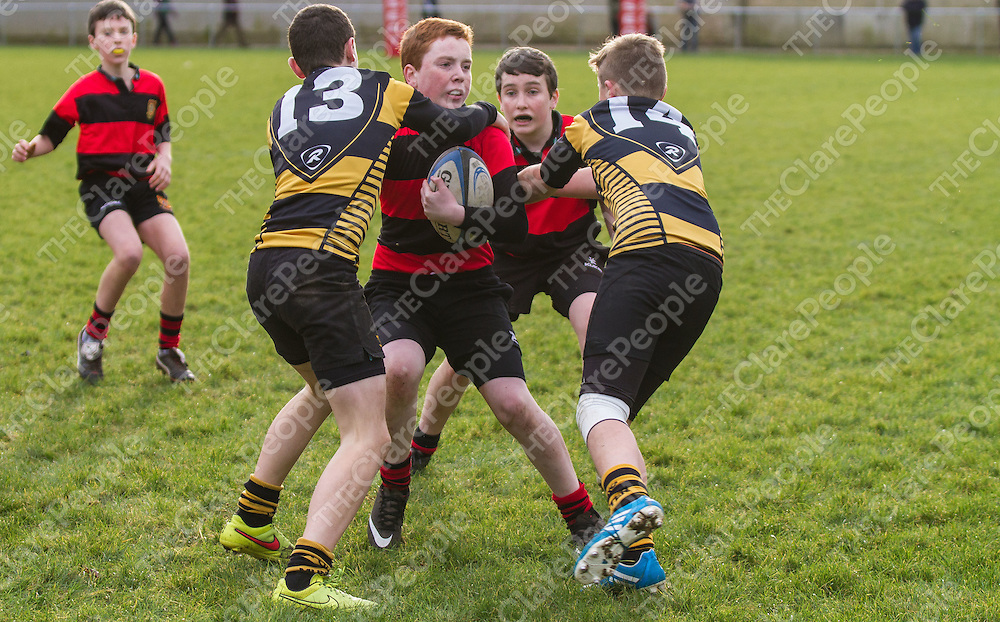 Ennis Brian Crowley Hayes gets high tackled from Young Munster