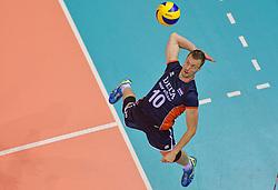 20150619 NED: World League Nederland - Portugal, Groningen<br /> De Nederlandse volleyballers hebben in de World League ook hun eerste duel met Portugal met 3-0 gewonnen / Jeroen Rauwerdink #10