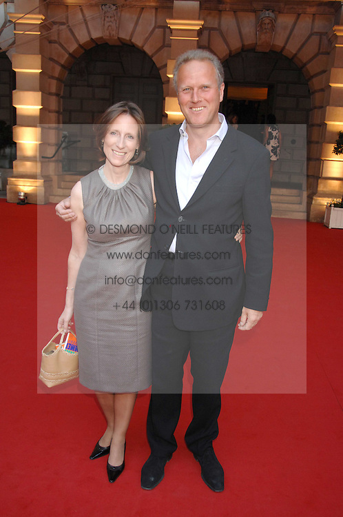 JONATHAN MARLAND MP and his wife PENELOPE at the Royal Academy of Art Summer Exhibition Preview Party on 4th June 2008.<br />