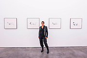 Tracey Emin with Gouache images - The Last Great Adventure is You - a new exhibition at the White Cube gallery.  It is her first at the London gallery in five years and features: bronze sculptures - including In Grotto (2014), Bird (2014) and a series of bronze bas relief plaques that portray figures; gouaches; paintings; large-scale embroideries; and neon works - including one of the exhibition title. The exhibition 'chronicles the contemplative nature of work'.