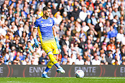 Leeds United goalkeeper Francisco Casilla (13) passes the ball during the EFL Sky Bet Championship match between Leeds United and Swansea City at Elland Road, Leeds, England on 31 August 2019.