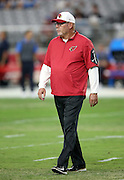 Arizona Cardinals head coach Bruce Arians watches pregame warmups before the 2015 NFL preseason football game against the San Diego Chargers on Saturday, Aug. 22, 2015 in Glendale, Ariz. The Chargers won the game 22-19. (©Paul Anthony Spinelli)