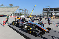 Sahara Force India F1 Team 2015 livery reveal.<br /> Autodromo Hermanos Rodriguez Circuit Visit, Mexico City, Mexico. Thursday 22nd January 2015.