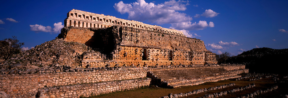 MEXICO, MAYAN, YUCATAN Kabah; the Palace of the Masks