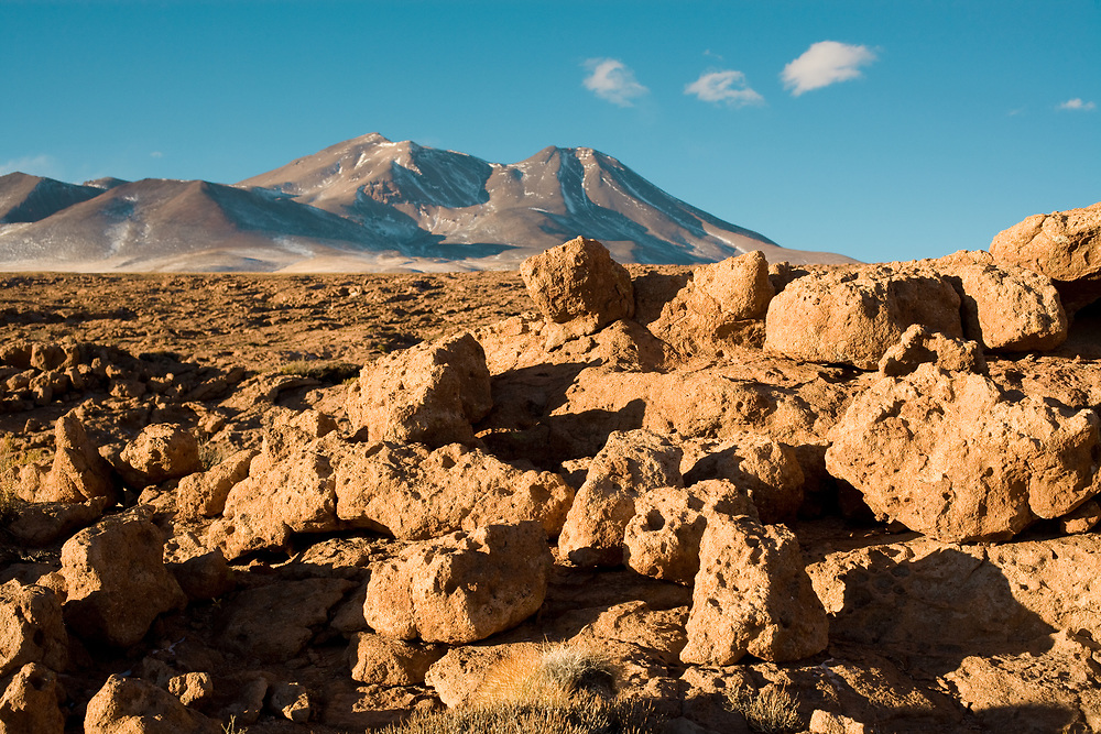 Rock formations of dry lava in the Altiplano (high Andean Plateau) at an altitude of over 4000m, Atacama desert, Chile, South America