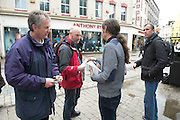19/05/2014 People queued  to meet  Luke Ming Flannagan on the streets in Galway . Photo:Andrew Downes