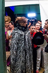 LOS ANGELES, CA - JUNE 14: Mexican Diva and Singer Ana Barbara dressed in a creation by fashion designer Adan Terriquez performed at the 2015 LA Pride Festival in West Hollywood on June 14, 2015. Byline, credit, TV usage, web usage or linkback must read SILVEXPHOTO.COM. Failure to byline correctly will incur double the agreed fee. Tel: +1 714 504 6870.