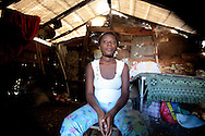 Migelaita Calvile, 17.<br /> <br /> &quot;I came to Port-au-Prince after the earthquake to try finding a job, because in the mountains where my parents live there was nothing left for us. I met a friend here and one day while we were walking to another friend of ours we saw a lot of boys. We did not pay any attention, but on the way back, they were waiting for us. They covered my head and dragged me somewhere. I don't remember much but I know they only let me go the day after.&quot; Migelaita recalls, &quot;I haven't told anyone what happened but after a few months I hadn't gotten my period, I went to check with the doctor, and he delivered me a result that left me shocked. I am pregnant. I am only 17, but for me, my life is over. Before that I could work somewhat, but now... Sometimes people here bring me things to eat and I try to find a job. But work like washing the dishes and cleaning is also hard on me now, in the last stages of my pregnancy. I am very much afraid of what will happen. After all, I hardly feed myself and I cannot tell my parents what happened to me. I really do not know what to do, I am depressed all the time because of that. I have no one here who can help me. I cannot see the light at the end of the tunnel, but I will not give the child up for adoption.&quot;