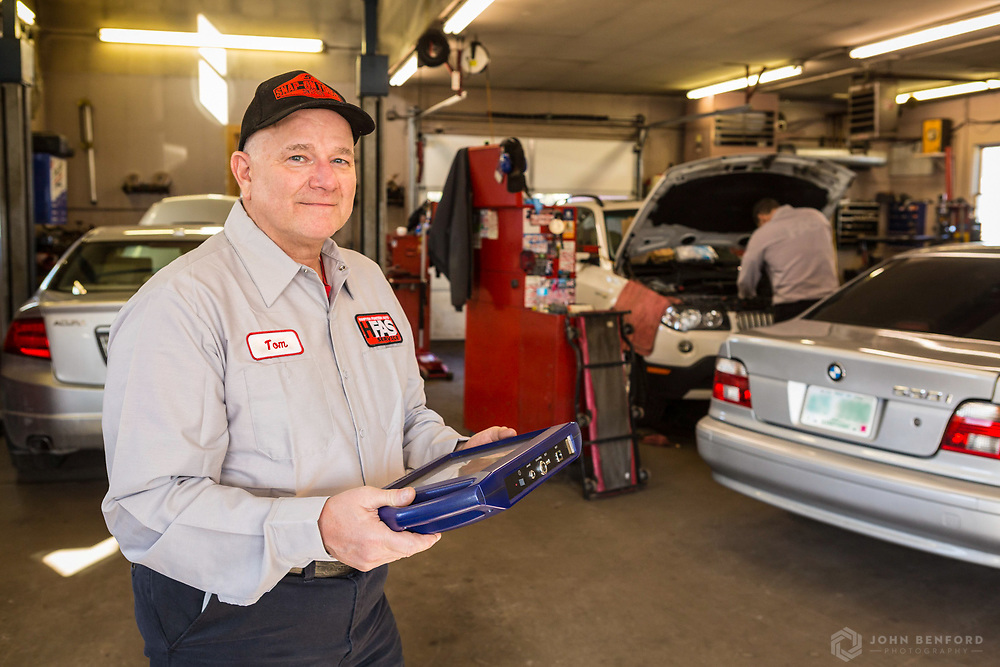Tom Walker-Lewis, owner of Hampton Foreign Auto Service in Hampton, NH
