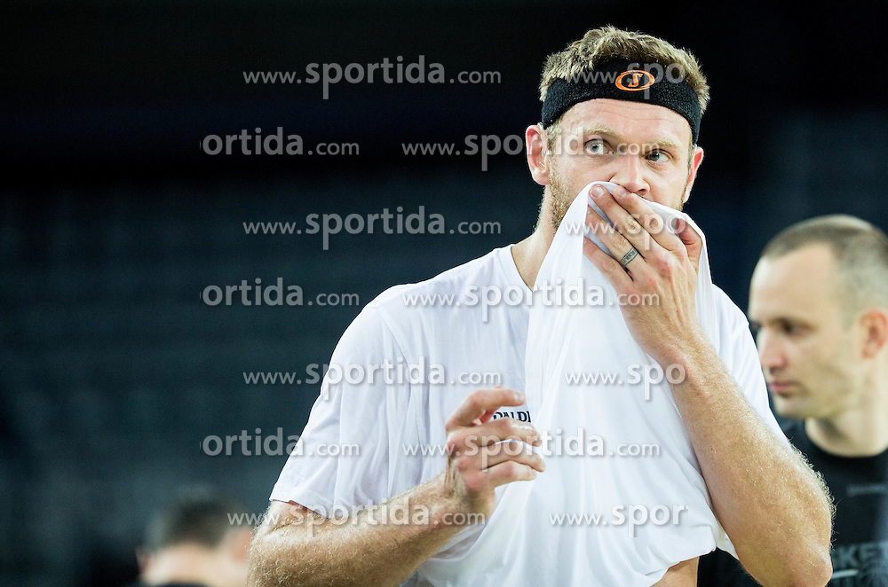 Miha Zupan during practice session of Slovenia National Basketball Team 1 day prior to the FIBA Europe Eurobasket 2015, on September 4, 2015, in Arena Zagreb, Croatia. Photo by Vid Ponikvar / Sportida