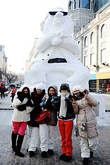 JAN 2 2013 Gangnam Style Snow Sculpture